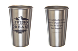 Logo Stainless Pint Glass